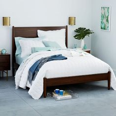 Mid-Century Bed - Rosewood | west elm