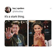 It's a Stark thing Funny Marvel Memes, Marvel Jokes, Avengers Memes, Marvel Avengers, The Mentalist, Marvel Universe, Marvel Comics, Choses Cool, Stark Family