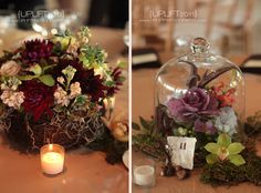 Wedding Centerpieces but I'm going to use the idea for the engagement party