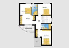 Luxury Villa Inspired From Macedonia – Amazing Architecture Magazine House Layout Plans, House Plans One Story, New House Plans, House Layouts, House Floor Plans, Revit Architecture, Architecture Magazines, Amazing Architecture, House Plans With Pictures