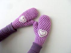 MittensCrochet MittensWinter Fashion Lilac by SmilingKnitting, $26.00