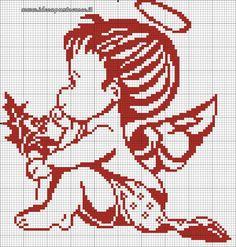 Cross Stitch Angels, Xmas Cross Stitch, Cross Stitch Fabric, Cross Stitch Baby, Cross Stitching, Cross Stitch Embroidery, Blackwork Patterns, Embroidery Patterns, Crochet Patterns