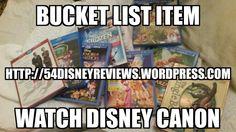 Watch the disney canon. Bucket list almost done http://54disneyreviews.wordpress.com #bucketlist #disney