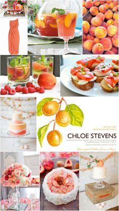 Georgia Peaches Bridal Shower Inspiration Board
