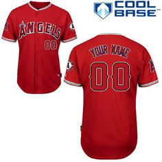 20df1730e15 Custom Los Angeles Angels of Anaheim Jersey Customized Red Cool Base Men MLB  Jerseys