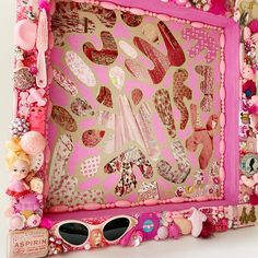 Excited to share this item from my #etsy shop: Pink Dreams Are Made of These - Found Object Collage and Shadow Box
