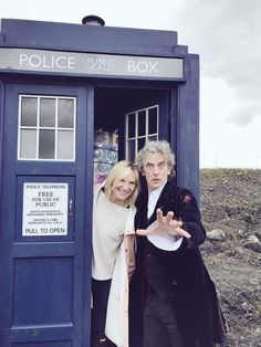 Jo Whiley and Peter in the TARDIS