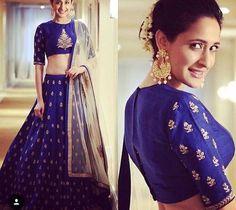 9 Breathtaking Blue Lehenga Designs That Have Us Floored Indian Wedding Lehenga, Bridal Lehenga, Indian Bridal, Indian Weddings, Indian Lehenga, Tamil Wedding, Blouse Lehenga, Red Lehenga, Lehenga Choli