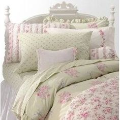 Shabby Chic linen and bedding. I bought a duvet cover from Shabby Chic several years ago and absolutely love sleeping with it!