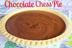 Chocolate chess pie -