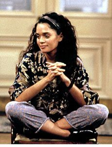 Lisa Bonet as Denise Huxtable, fashion icon.  Bonet was born in San Francisco.  Her African-American father, Allen Bonet, is an opera singer and was born in Texas; her Jewish mother, Arlene (née Litman), was a teacher.  Lisa is the mother of Zoe Kravitz.