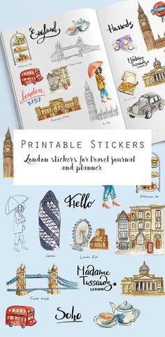 10 ides de page mettre dans votre bullet journal en t printable london stickers for the travel journal printablestickers londonstickers englandclipart digitalstickers solutioingenieria Images