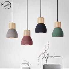 Pendant Lights Modern Fashion Ceiling Pendant Lamp Home Lighting Fixture, Wood Cement Hanglamp For Kitchen Dining Room Ceiling Pendant, Pendant Lighting, Ceiling Lights, Pendant Lamps, Ceiling Lamp, Drop Lights, Hanging Lights, Home Lighting, Modern Lighting