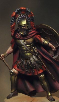 Spartan Warrior - considered to the be the elite soldier of the ancient world. Greek Warrior, Fantasy Warrior, Roman Soldiers, Toy Soldiers, Greek History, Ancient History, Spartan Warrior, Ancient Greece, Military History