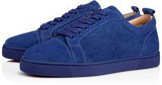 3247513fba69 Louis Junior Men s Flat Azzurro Suede - Men Shoes - Christian Louboutin