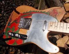 Pyrograph partscaster one of a kind T type by JohnWoodBarclay Bass Amps, Guitars, Type, Music, Musica, Musik, Muziek, Music Activities, Guitar