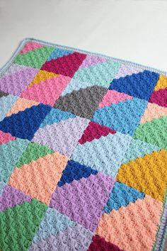 Geo Rainbow C2C Baby Blanket. A Crochet PDF Pattern. | Etsy C2c Crochet Blanket, Crochet Blankets, Crab Stitch, Moss Stitch, Afghan Crochet Patterns, Crafty Projects, Yarn Colors, Rainbow, Baby