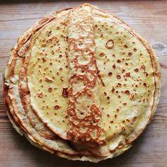 Pancake Dessert, Danish Dessert, Danish Food, Pancake Recipe With Vanilla, Classic Pancake Recipe, Danish Pancakes, Crepes And Waffles, Homemade Syrup, Homemade Vanilla