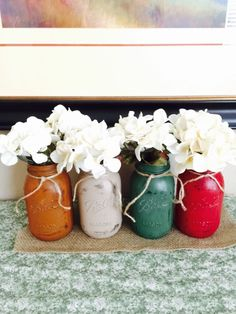 Mason jar craft project