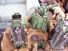 Anything But Ones: 40k space marine terrain center piece