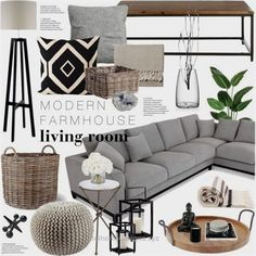 A home decor collage from September 2016 by emmy featuring interior interiors interior design home home decor interior decorating Arteriors Heathfield amp; New Living Room, Living Room Modern, Living Room Designs, Small Living, Gray Couch Living Room, Target Living Room, Classy Living Room, Modern Farmhouse Living Room Decor, Modern Farmhouse Interiors