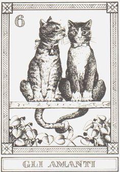 THE LOVERS Osvaldo Menegazzi tarot card