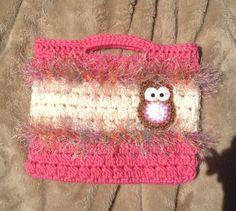 Crocheted Owl Tote Bag
