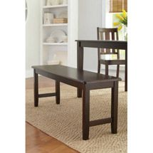 Walmart: Better Homes and Gardens Dining Bench, Mocha