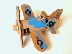 Make Toilet Roll Airplanes (template included)