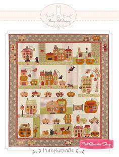 Pumpkinville Block of the Month Quilt Pattern Bunny Hill Designs, Anne Sutton #BHD2048 - Fat Quarter Shop