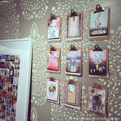 PAPAYA! store wall decor including our Persian Garden Damask Wall Stencils - Royal Design Studio