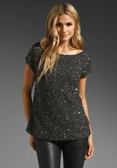 sequins in black