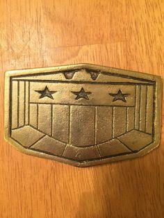 Judge Dredd belt buckle movie memorabilia authentic gold for Judge Anderson costume