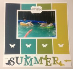 Stampin' Up! Summer Scrapbook page layout - great with pool and swimming photos!