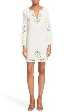 Joie 'Anjelica' Cotton & Linen Lace Shift Dress available at #Nordstrom