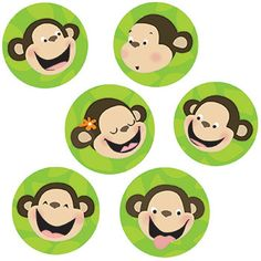 Monkeys 1In Designer Cut Outs by Creative Teaching Press $2.99