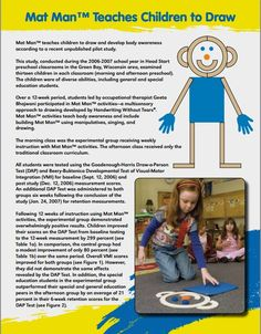 Learn about a recent pilot study on how Mat Man activities improve student learning and academic performance. Head Start Preschool, Preschool Writing, Fall Preschool, Teaching Kindergarten, Preschool Learning, Teaching Kids, Preschool Ideas, Handwriting Without Tears, Pre Writing