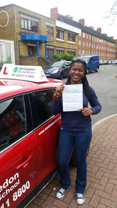 Well done to Titi from #Streatham who passed her test in #Mitcham.