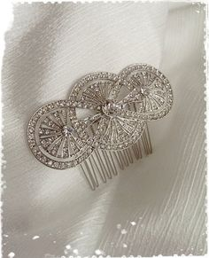 1920s Art Deco Great Gatsby Inspired Crystal by WhitePeonybyKC