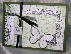 60. Butterfly thank you card #handmade #butterflies