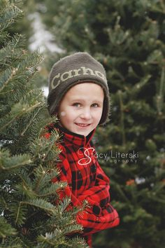 Christmas children winter kids portraits | Stacy Literski Photography