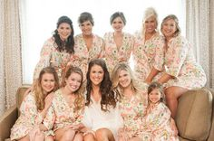 Pink Posie Bridesmaid Robes. Bridesmaid by ModernKimonoRobes