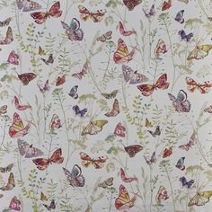 Admiral - Blossom fabric, from the Fragrance collection by Prestigious Textiles