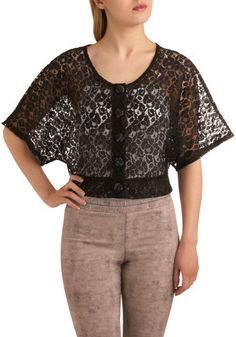 I don't understand why they teamed it with those pants. but that lace top with a pencil skirt... swoon.