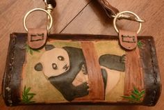 The back of the panda purse