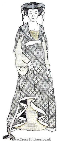 Gwendoline - Blackwork Kit By X-Calibre Designs