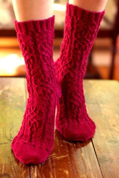 Twisted Flower Socks by Cookie A [Knit. Sock. Love]