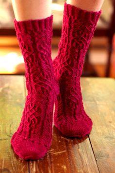 Twisted Flower Socks by Cookie A [Knit. Sock. Love]