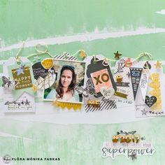 Stamping on Scrapbook Layouts | Flora Monika Farkas | Pinkfresh Studio - Blog | Bloglovin'