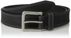 Timberland Men's 35Mm Boot Leather Belt, Black, 34